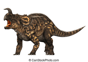 Einiosaurus Dinosaur Protecting - defend, nature, cutout,...