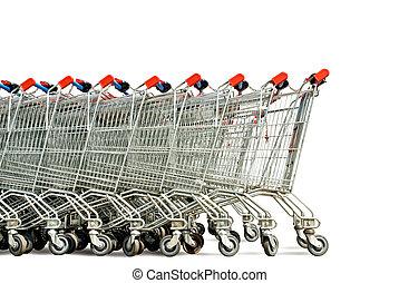 einkaufende einkaufswagen