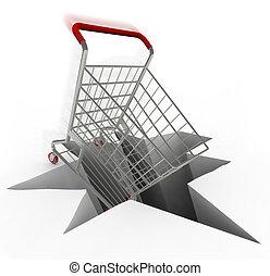laden shoppen uhr brausen karren zeit kaufen laden. Black Bedroom Furniture Sets. Home Design Ideas