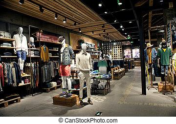 einkaufszentrum, halle, und, kaufmannsladen