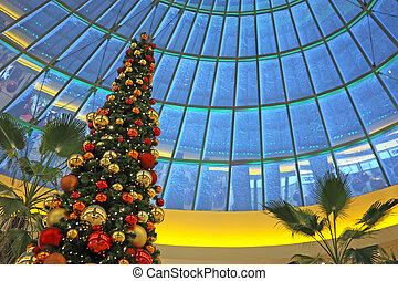 einkaufszentrum, shoppen, weihnachten