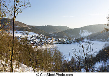 Einruhr In Winter, Germany