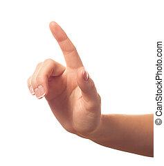 eins, finger