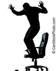 eins, kaufleuten zürich, ängstlich, von, computermaus, silhouette
