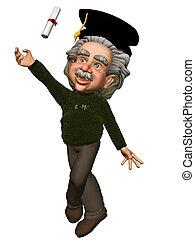 Einstein 2 - Einstein creates the graduation - isolated on...