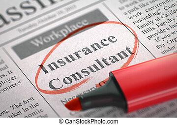 einstellung, 3d., consultant., we're, versicherung