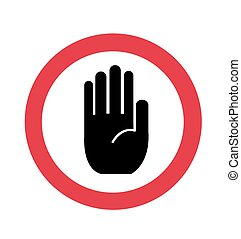eintrag, hand, nein, zeichen