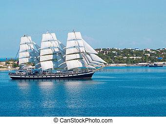 eintragen, schiff, bay., segeln