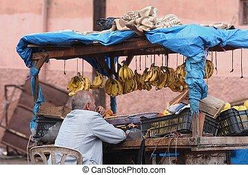 einzelhändler, banane