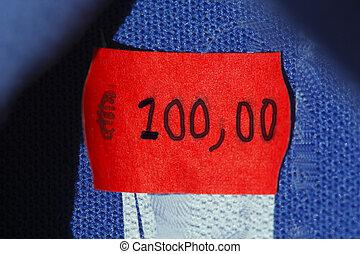 Einzelhandel16l004.JPG - Preisschild 100 Euro in einem...