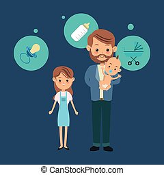 einzelnes männliches Elternteil