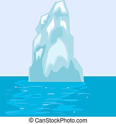 eisberg, eps10, sea.