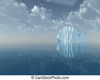 eisberg, in, freies meer