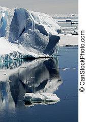 eisberg, reflexionen