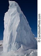 eisberg, winter, gefrorenes, wasser, spitze, antarktisch, tag