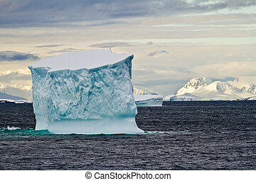 eisberge, in, der, südlicher ozean