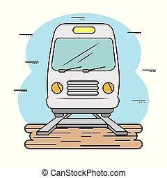 eisenbahn, metro, ikone