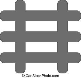eisenbahn, schwarz, ikone