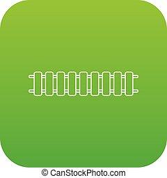 eisenbahn, vektor, grün, lok, ikone