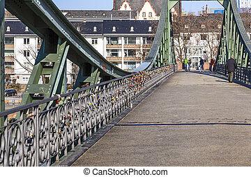 Eiserner steg and River Main in Frankfurt