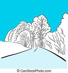 Eislandschaft mit Straße Hintergrund Illustration