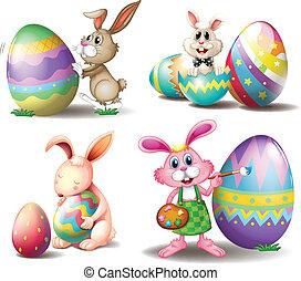 eitjes, bunnies, pasen