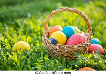 eitjes, pasen, kleurrijke