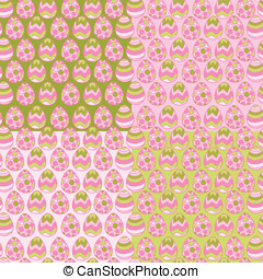 eitjes, pattern., vector, achtergrond, pasen, vrolijke