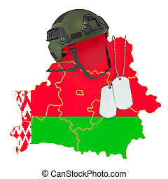 ejército, fuerza, concept., o, interpretación, belorussian, militar, guerra, 3d