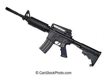 ejército, m4a1, rifle., nosotros