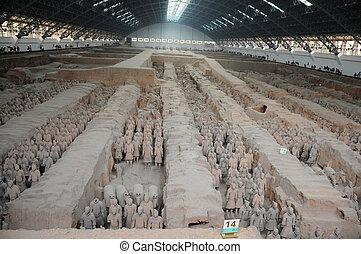 ejército, terracota, china