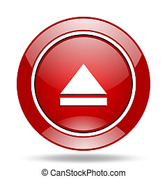 eject red web glossy round icon