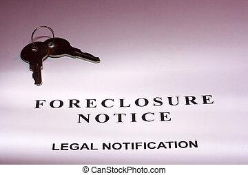 ejecución hipoteca, aviso