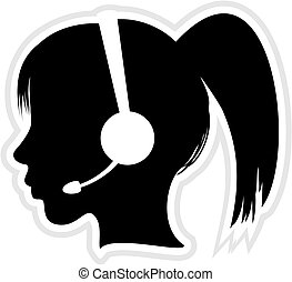 ejecutivo, centro de la llamada, icono