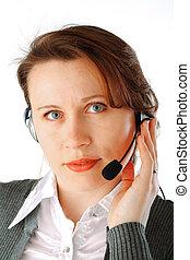 ejecutivo, centro de la llamada