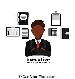 ejecutivo, diseño, empresa / negocio