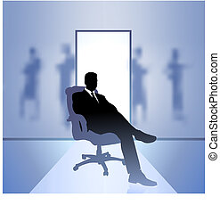 ejecutivo, hombre de negocios