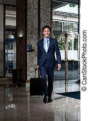ejecutivo, hotel, empresa / negocio, entrar, vestíbulo