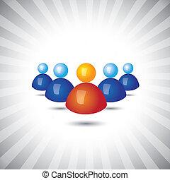 ejecutivos, concepto, como, y, graphic-, empleados, icons(...