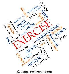 ejercicio, palabra, nube, concepto, angular