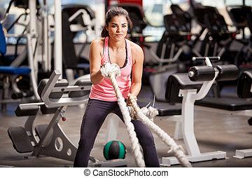 ejercicios, algunos, crossfit