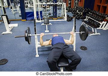 ejercicios, gimnasio, condición física