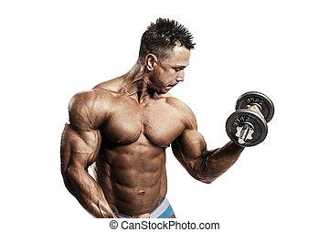 ejercitar, muscular, hombre