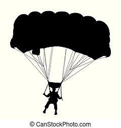 ejtőernyő, repülés, skydiver