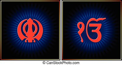 Ek Onkar, Khanda The Holy Motif Vector Art