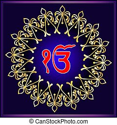 Khanda - Ek Onkar, Khanda The Holy Motif Vector Illustration