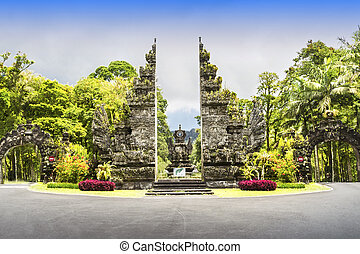 Ekakarya Botanic Garden - Enrance of Eka Karya Botanic...