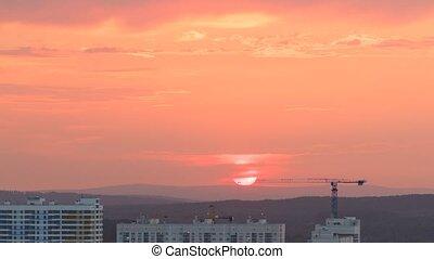 ekaterinburg, gros plan, soleil, défaillance, temps, russia., seat.