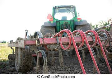 eke, képben látható, egy, traktor
