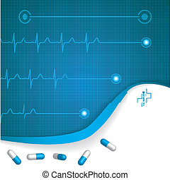 ekg , αφαιρώ , ιατρικός , φόντο , καρδιολογία
